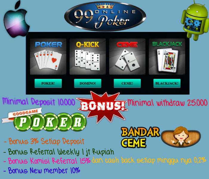 pokern online bonus